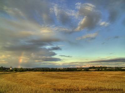 Feld Regenbogen