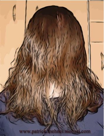 Lange Haare Mann